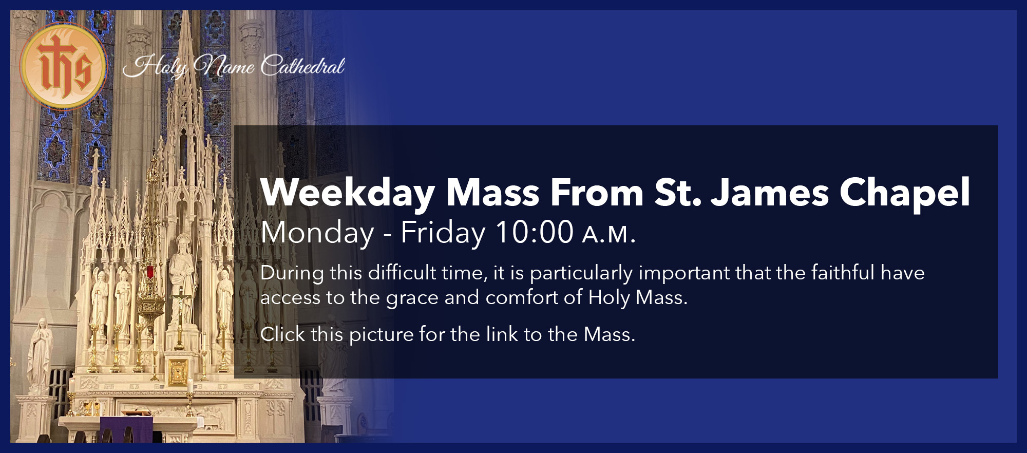 Weekday Mass From St. James Chapel