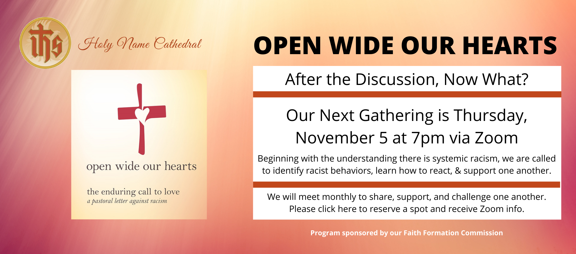 Open Wide Our Hearts – Follow Up Group Meetings