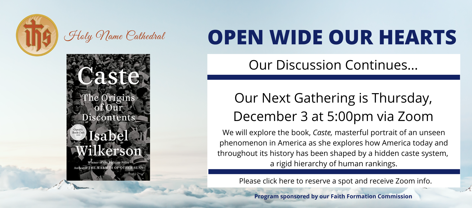 Open Wide Our Hearts – Caste Book Discussion